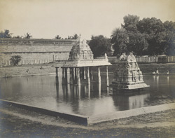 The tank from the west, Varadarajaperumal Temple, Conjeeveram